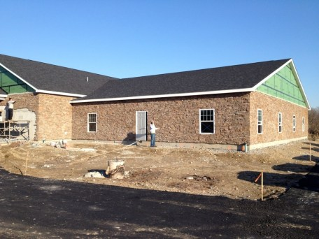 1/7/12 Fellowship Hall stonework done!