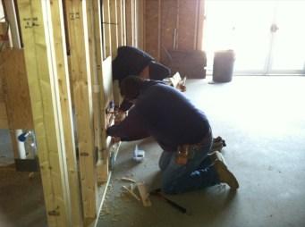 1/14/12 Frank & Gordon working on plumbing
