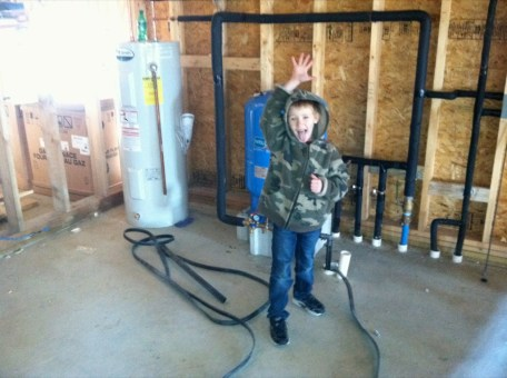 1/14/12 CJ learning more about plumbing.