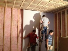 3/14/12 These sheetrock guys move too fast for pictures!