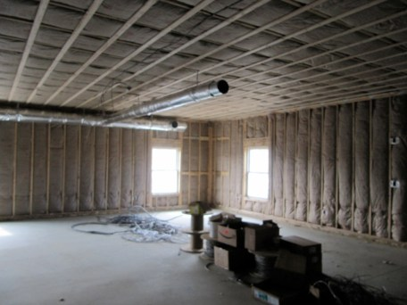 3/9/12 Another view of insulated fellowship hall.