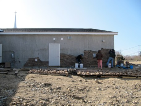 3/26/12 Progress on a CHILLY windy March day. Please pray for warmer days!