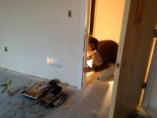 4/16/12 Martin Glasser installing a Sunday School door