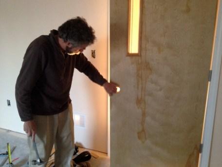 4/16/12 Martin checking the door