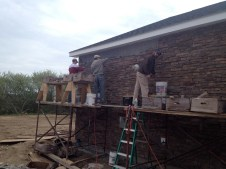 4/26/12 Brannon, Matt, & Chris FINISHING that wall!!!!!!!!! (yes, I'm excited about that!!!)