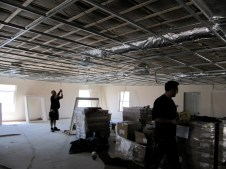 4/18/12 Electricians working in the fellowship hall