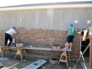 4/17/12 Abe Glasser and Michaela Reynolds working on the wall