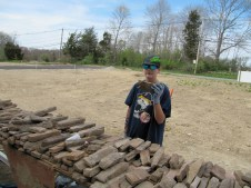 4/18/12 Mason Kairnes picking out just the right rock