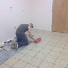5/4/12 Brannon tiling the men's room