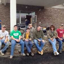 5/5/12 The Millers on lunch break: Brannon, Jonathan, Devan, Pastor Terry, & Tammy