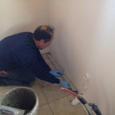 5/8/12 Gary Wilson preparing the floor for the last tile