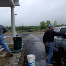 5/22/12 Tommy Goodfellow and Pastor Bill getting water for the grout