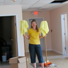 7/7/12 Christy putting the mops away