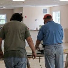 7/7/12 Frank and Tommy Goodfellow cutting baseboards