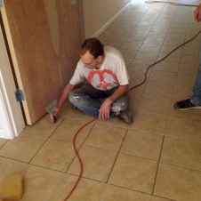 6/30/12 Matt working on the loose tile
