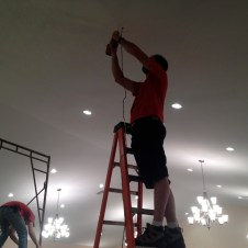 7/10/12 Pastor Bill & Brannon working on the ceiling
