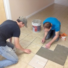 7/13/12 Brannon & Matt fixing more tiles