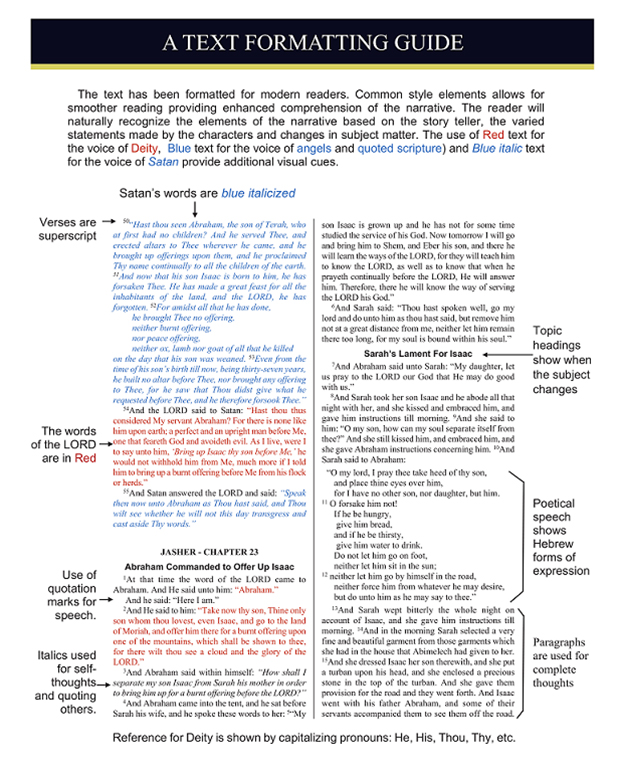 Text Formatting Guide for The Annotated Book of Jasher