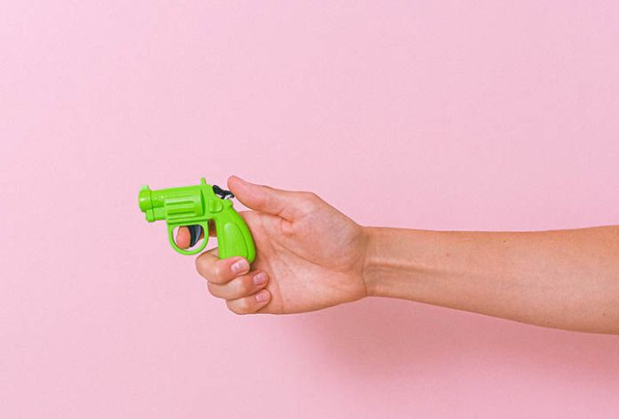 Stock image of a toy gun