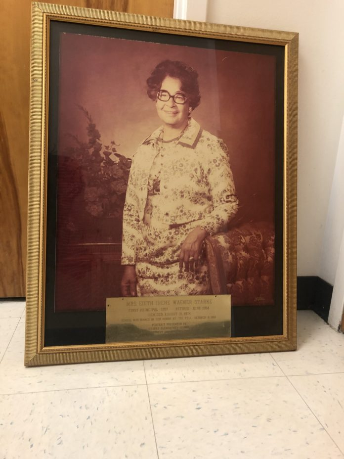 <p><p><strong>EDUCATION VETERAN</strong>— This portrait of Edith Starke hangs in the principal's office at Edith I. Starke Elementary School on South Parsons Avenue in DeLand. Starke, a longtime educator, was the first principal of the school and a community leader.</p></p><p>PHOTO COURTESY LIZBET VILLA/STARKE ELEMENTARY SCHOOL</p>