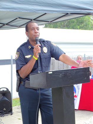 Captain Prurince Dice with the DeLand Police Department.
