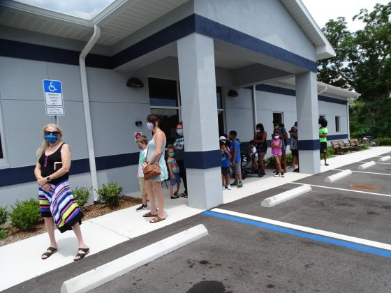 <p><p>The three-day event had parents out at the newly constructed Joyce M. Cusack Resource Center at 489 Mathis Ave. Aug. 17 to 21.</p></p><p>BEACON PHOTO/MARSHA MCLAUGHLIN</p>