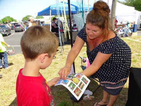 <p><p>Fred Carr and Tracy Roger work on the scavenger hunt in Deltona</p></p><p></p>