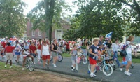 bikes in parade