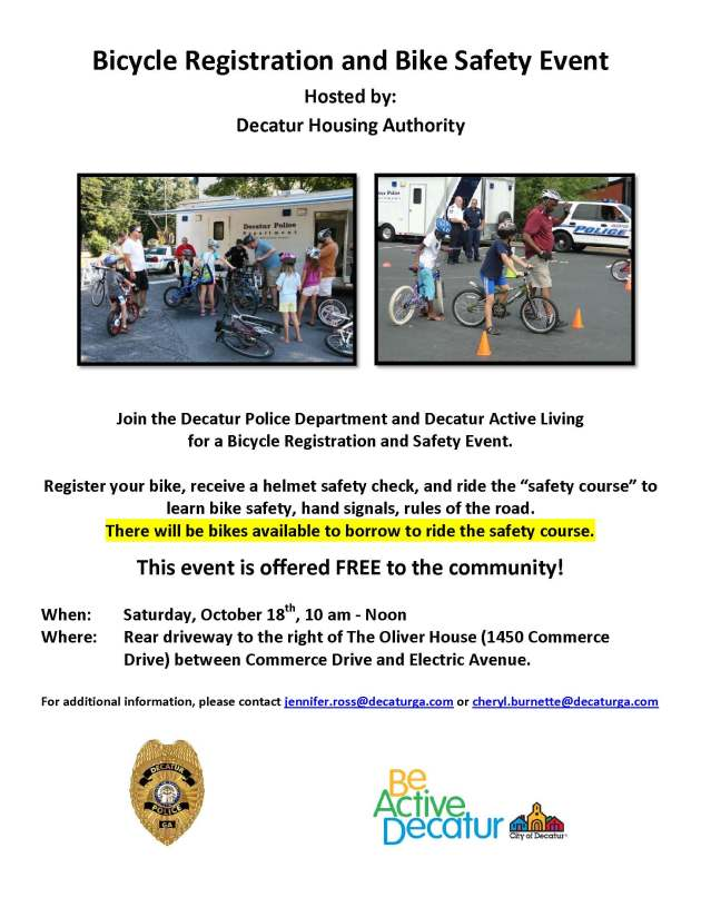 DHA Bike Safety Event 10-18-14