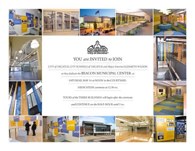 Beacon Municipal Center Dedication flyer