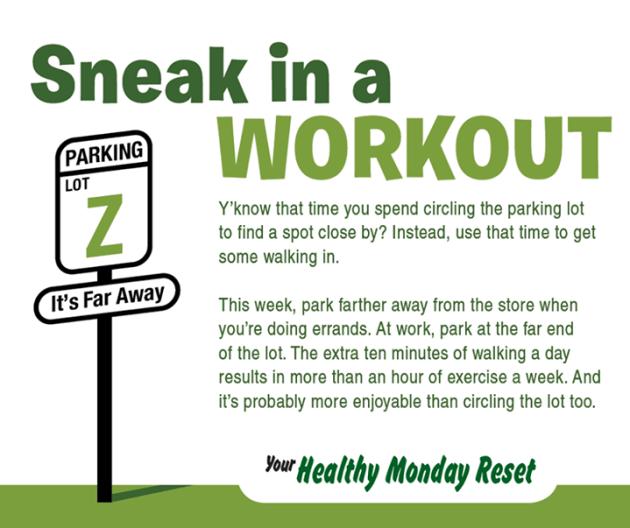 sneak in workout