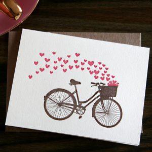 bike basket of valentines