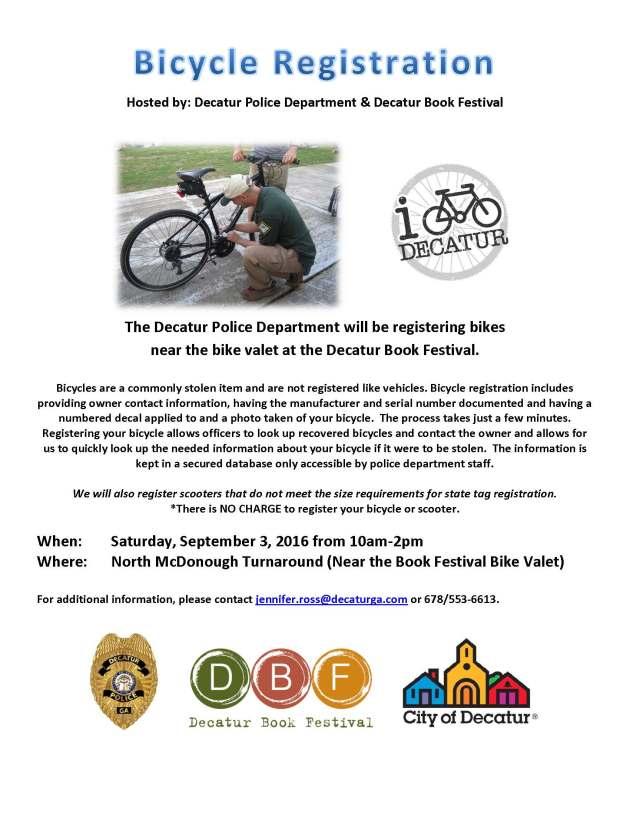 Book Festival Bike Registration 090316