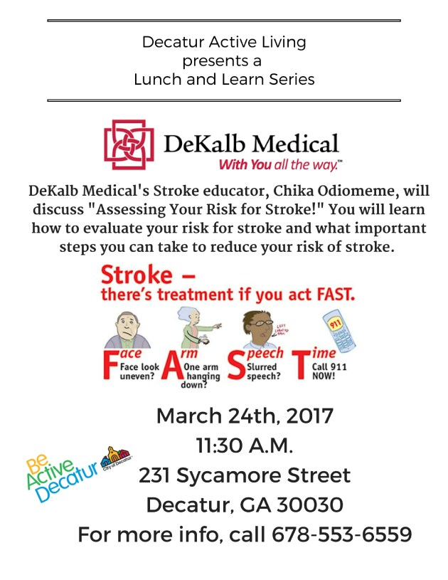 Copy of Decatur Active Livingpresents a Lunch and Learn Series (3)