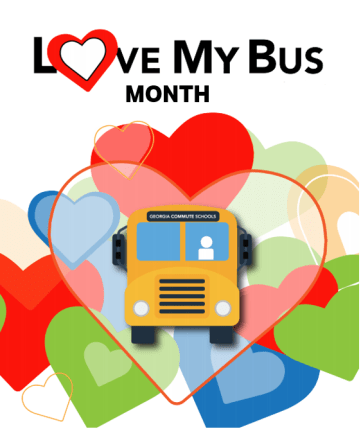 Love my bus month graphic