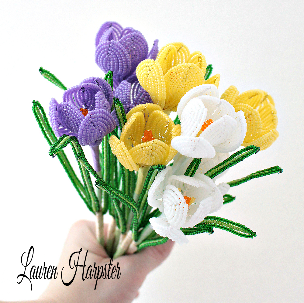 French Beaded Crocus by Lauren Harpster