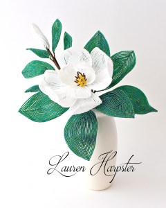 French Beaded Southern Magnolia by Lauren Harpster
