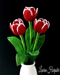 French Beaded Tulips by Lauren Harpster