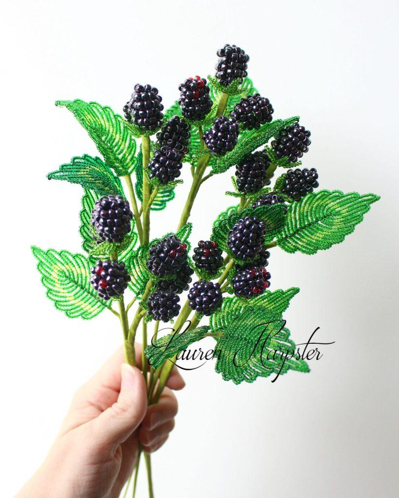 French Beaded Blackberries by Lauren Harpster