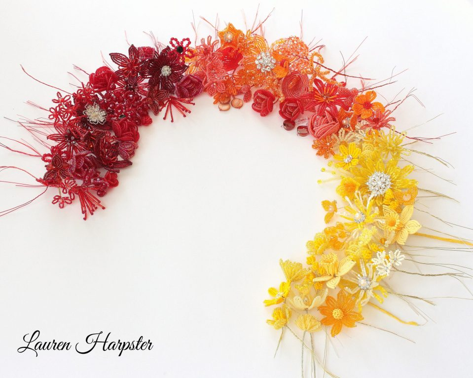French Beaded Flowers by Lauren Harpster