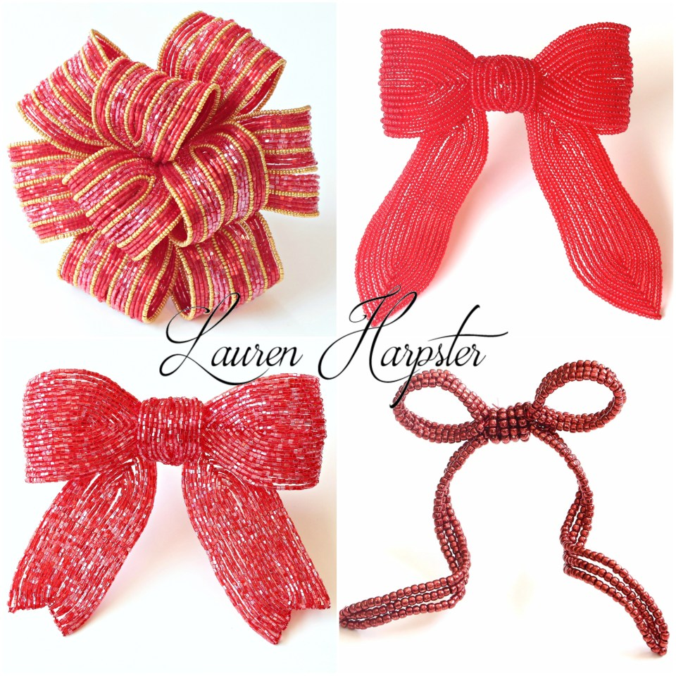 French Beaded Bows by Lauren Harpster