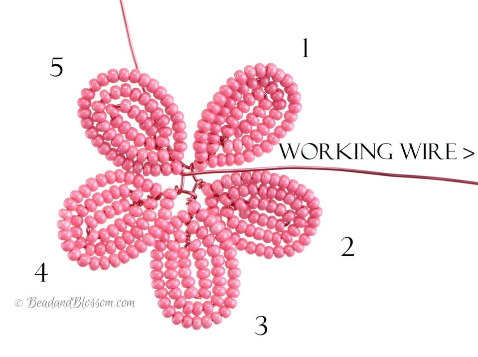 french beading tutorial - continuous wraparound loops