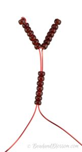 french beading tutorial - fringe technique