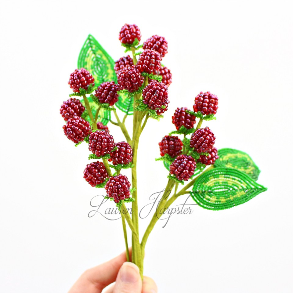 French Beaded Raspberries by Lauren Harpster