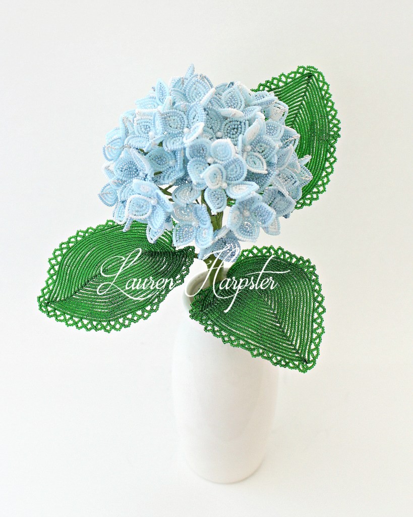 French beaded Hydrangea by Lauren Harpster