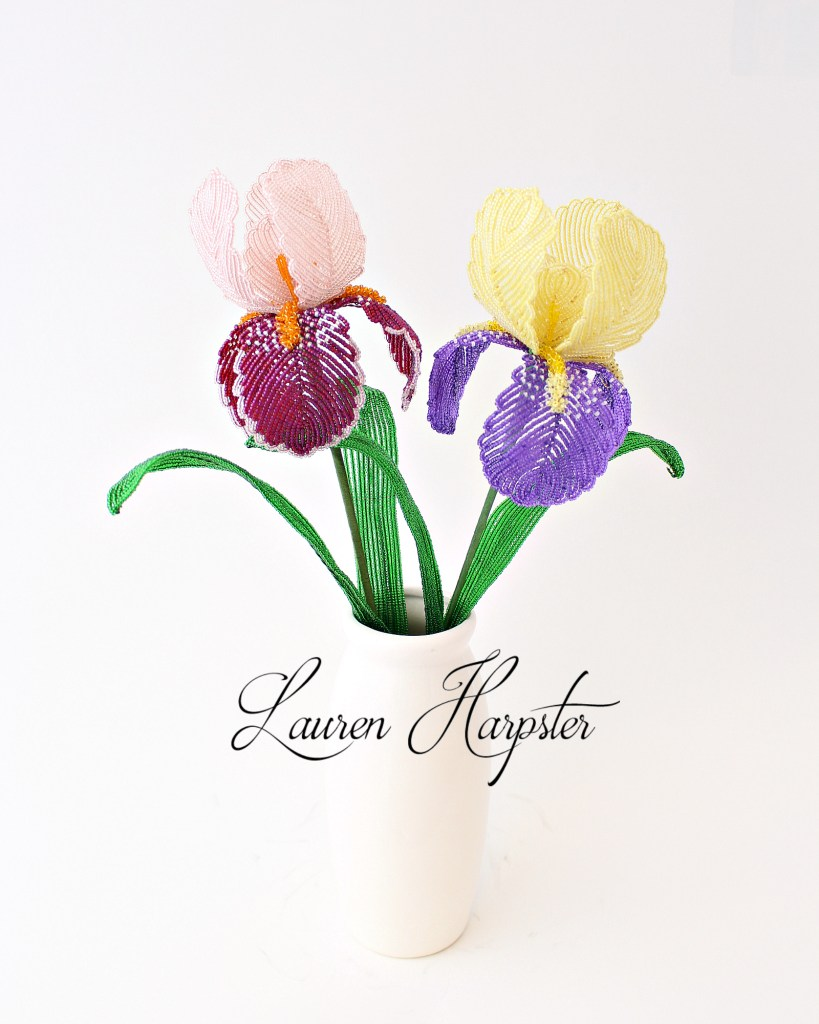 French Beaded Irises by Lauren Harpster