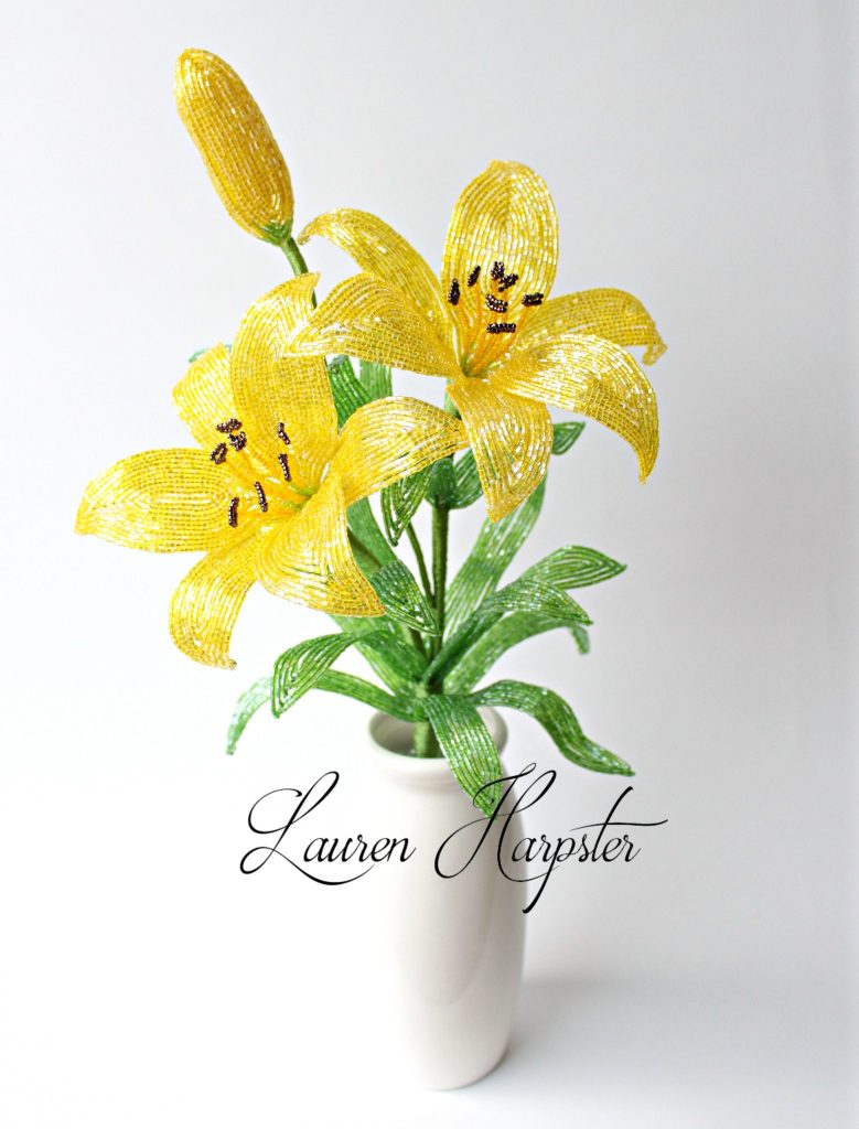 French Beaded Asiatic Lilies by Lauren Harpster