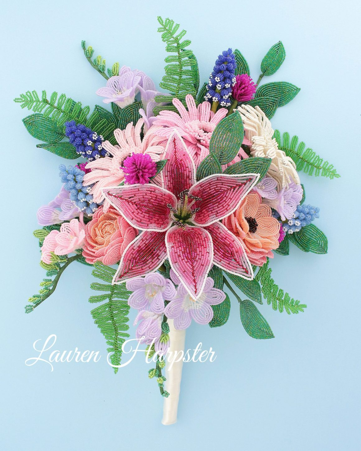 French Beaded Flower Bouquet by Lauren Harpster