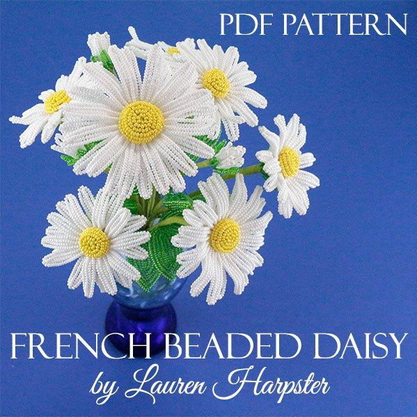 French Beaded Daisy Pattern by Lauren Harpster