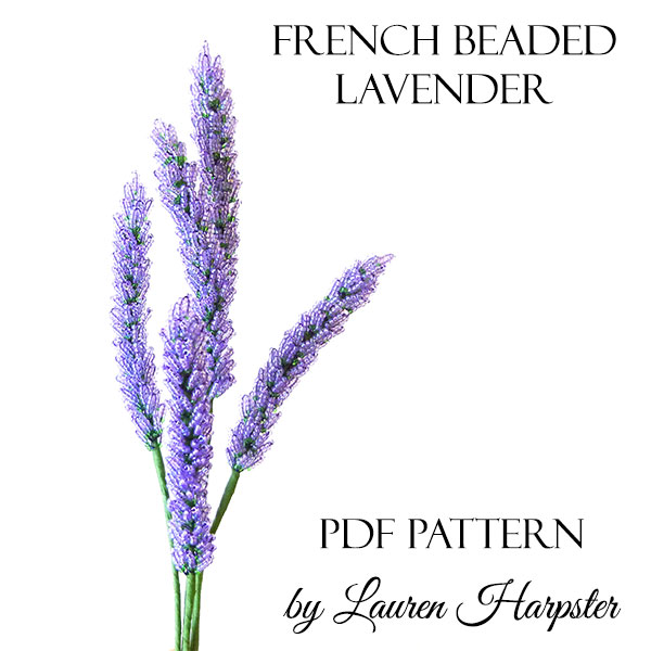 Free French Beaded Lavender Pattern by Lauren Harpster